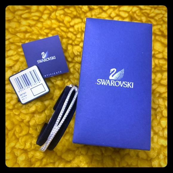 SWAROVSKI HERMINE BANGLE CLEAR CRYSTAL